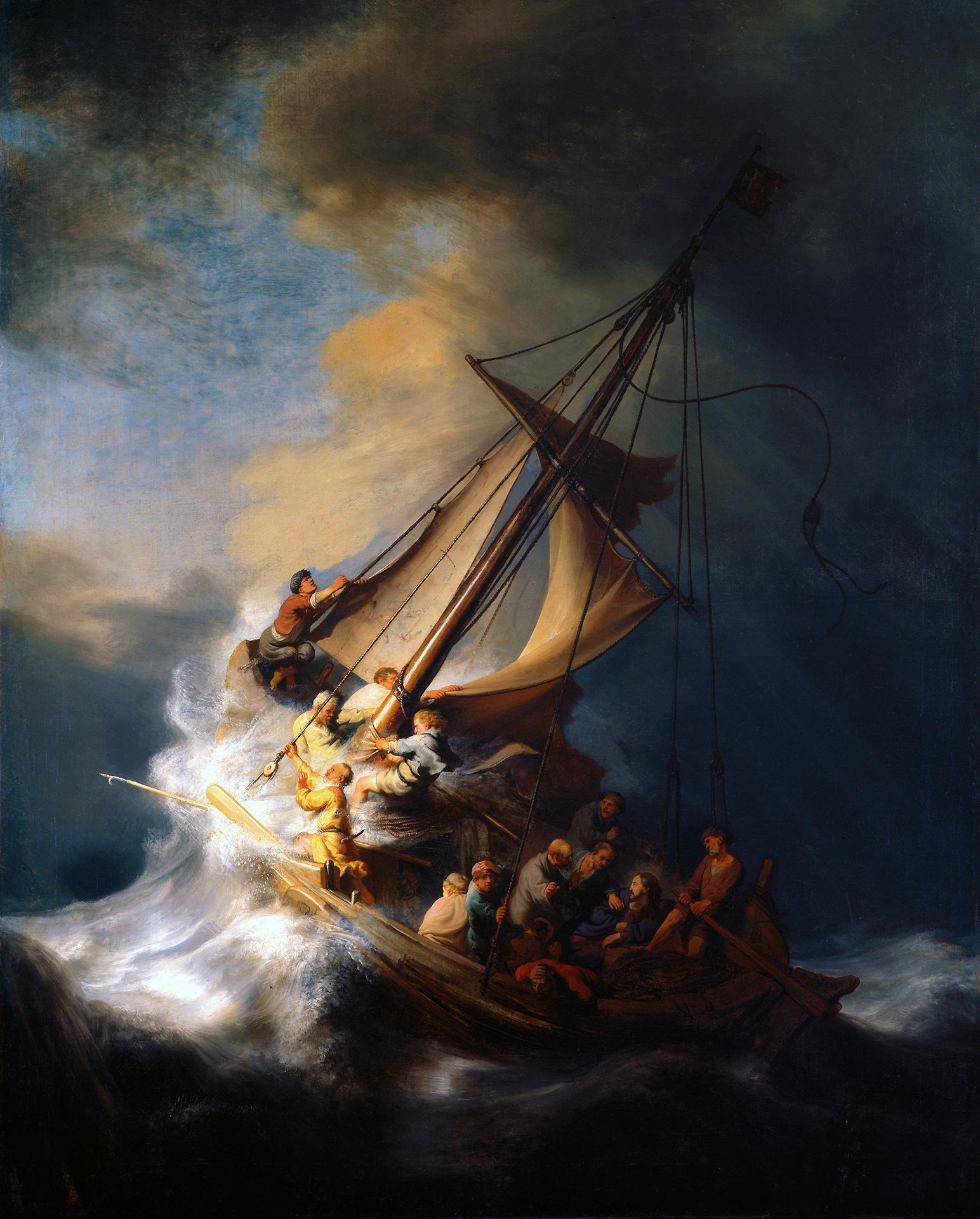 レンブラント ファン レイン ガラリアの海の嵐 Pc
