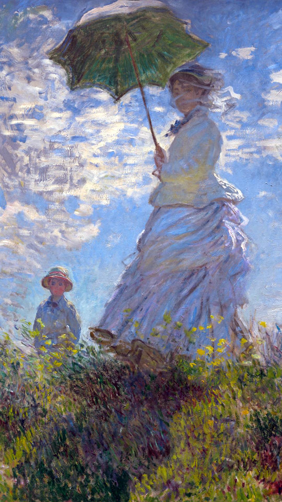 クロード モネ 日傘をさす女性 Pc スマートフォンの壁紙